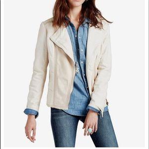 Lucky Brand Leather Mix Moto Jacket